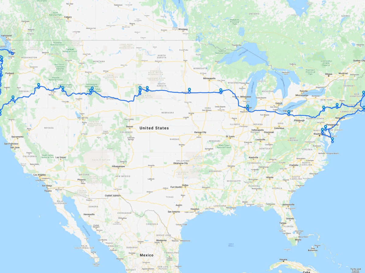 Image of trip routing
